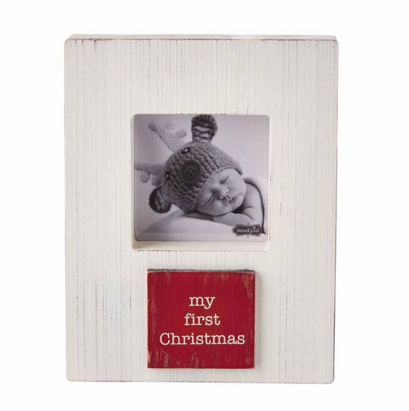 My First Christmas Block Plaque Frame