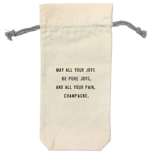 May All Your Joys Wine Bag