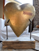 Metal Heart with Base