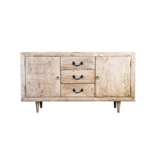Bleached & Distressed Mango Wood Console