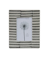 Black and White Geometric Picture Frame