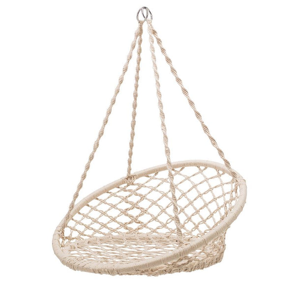 Hand-Woven Kid's Macramé Hanging Chair