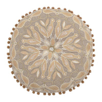 Beige Color Embroidered Pillow