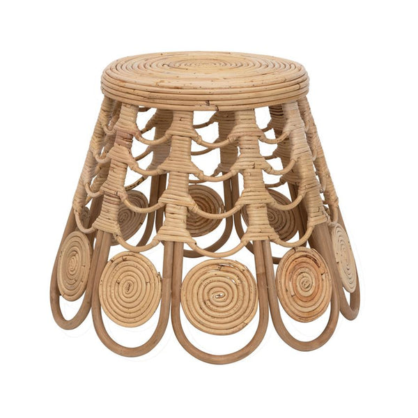 Tapered Rattan Stool