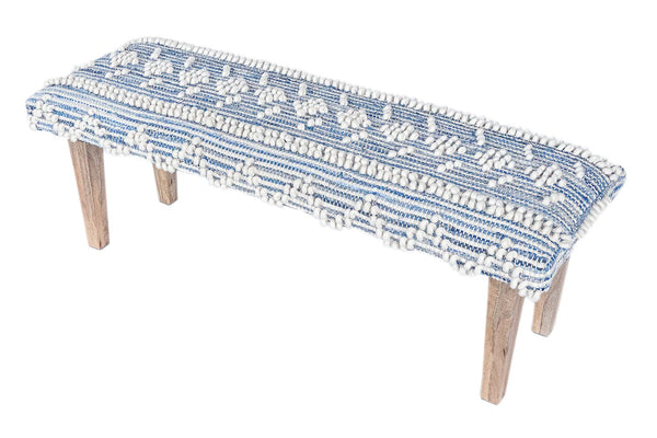 Recycled Denim Handwoven Bench