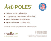 "Find Peace 20"" Art Pole"