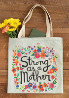 Strong as a Mother Canvas Tote