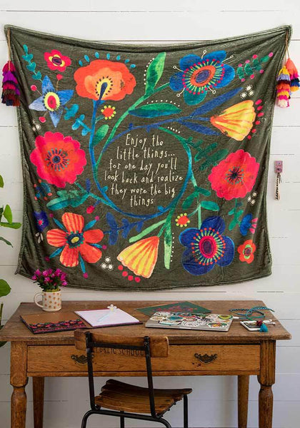 Enjoy The Little Things Tapestry Blanket
