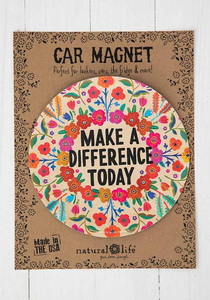 Make a Difference Today Car Magnet