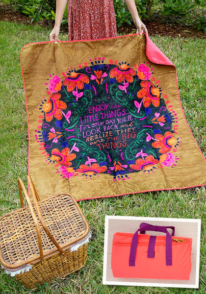 Little Things Water Resistant Picnic Blanket