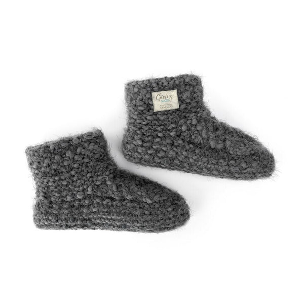 Charcoal Slipper Booties