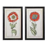 Black Wood Framed Red Flowers