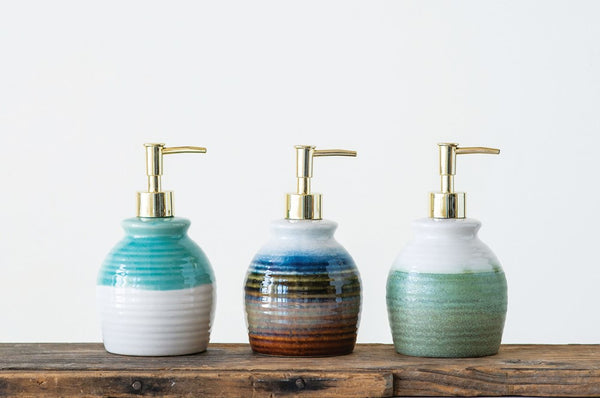 Reactive Glaze Soap Bottle with Pumps