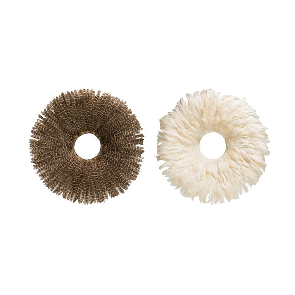 Round Feather Wall Decor