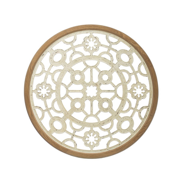 Round Metal and Wood Wall Medallion