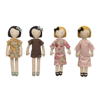 Fabric Doll with Reversible Dress