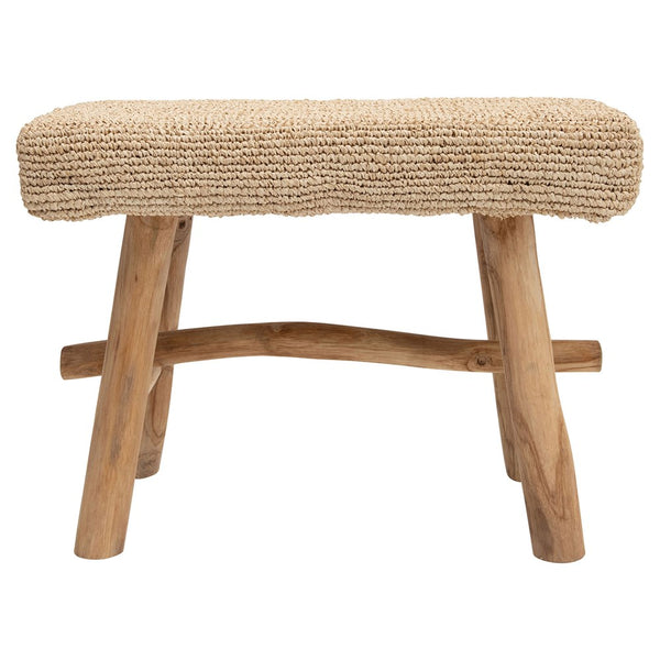Woven Mendong Covered Stool