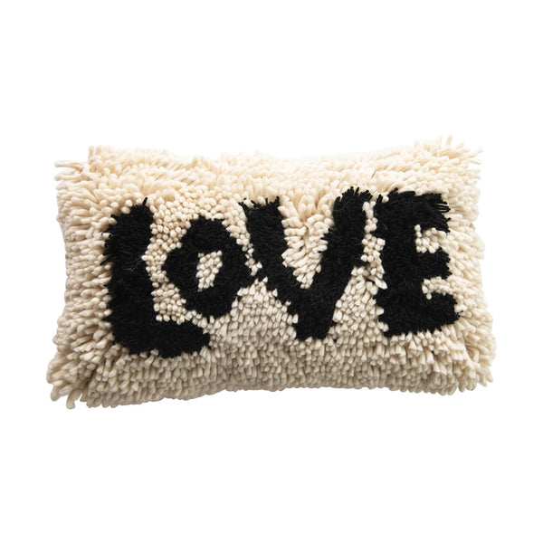 Love Wool Shag Lumbar Pillow