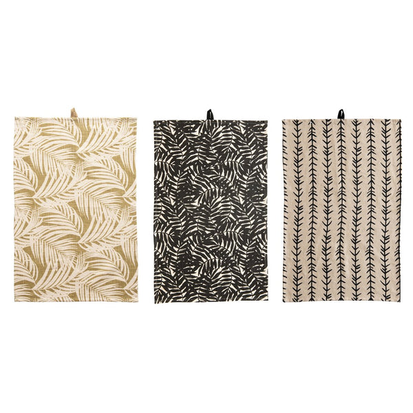 Fern Cotton Printed Tea Towel Set