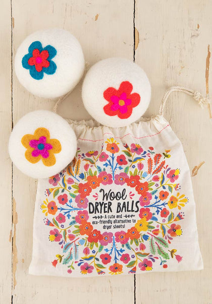 Flower Wool Dryer Balls
