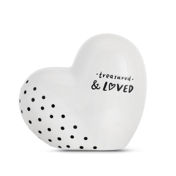 Black and White Heart Bank
