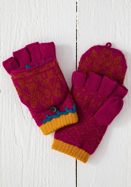 Berry Rust Convertible Gloves