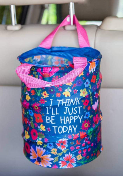 Be Happy Today Pop Up Car Trash Can