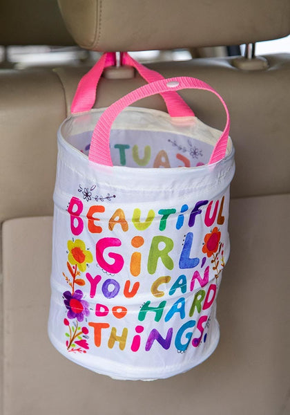 Beautiful Girl Pop Up Car Trash Can