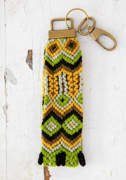 Green & Gold Sayulita Key Fob