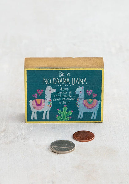 No Drama Llama Tiny Block Keepsake