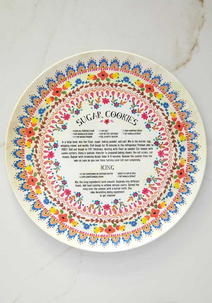 Sugar Cookie Recipe Melamine Plate