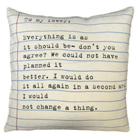 Letter to my Love Art Pillow