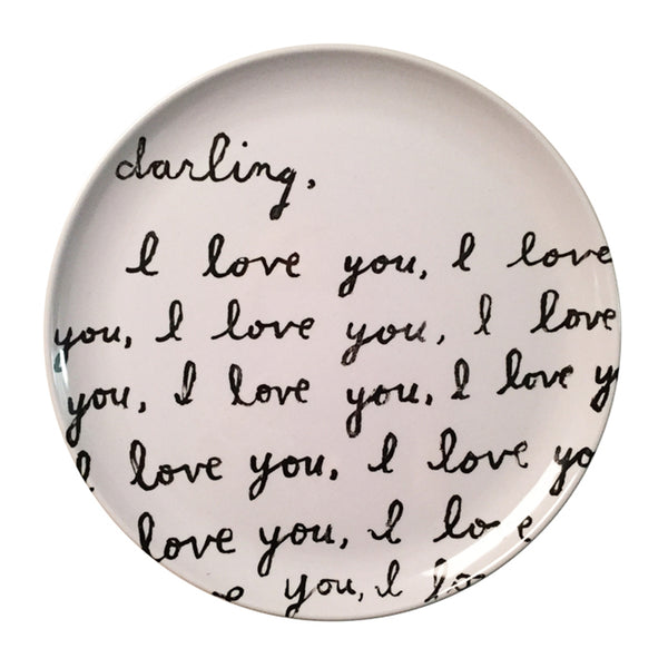 Darling I Love You Melamine Plate