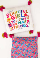 Beautiful Girl Cozy Chirp Pillow