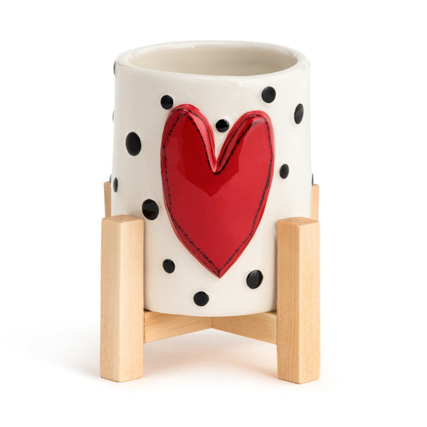 Red Heart Mini Planter