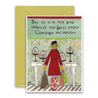 Champagne & Cupcakes Holiday Card