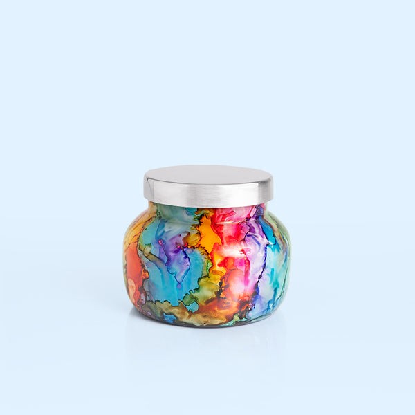 Capri Blue Volcano Rainbow Watercolor Petite Jar