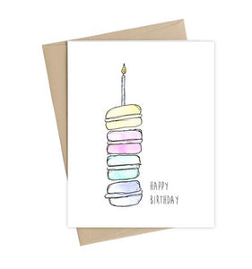 Happy Birthday Macarons Greeting Card