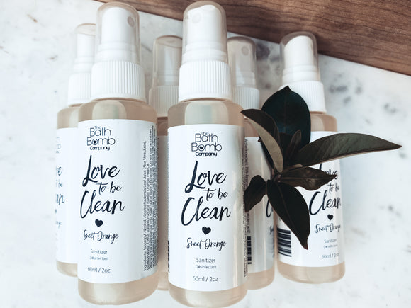 Love to be Clean Sanitizer Spray 60ml (Sweet Orange)