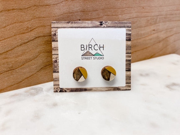 Mustard and Pearl Studs