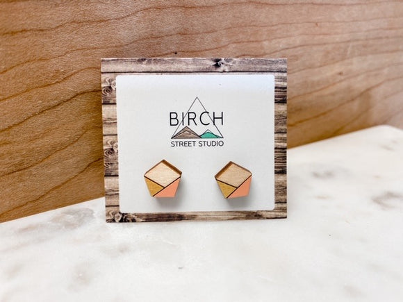Peach and Gold Studs