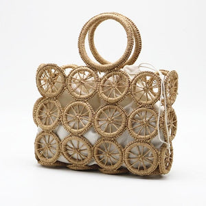 Bolsa Bucket Natural Rattan