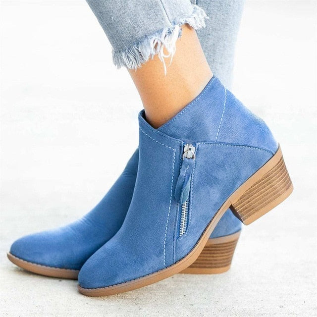 Ankle Boot Flock