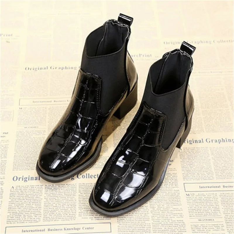 Ankle Boot Black Crock