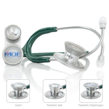 画像をギャラリービューアに読み込む, MDF® MD One® Epoch Titanium Stethoscope (MDF777DT) - Emerald Green