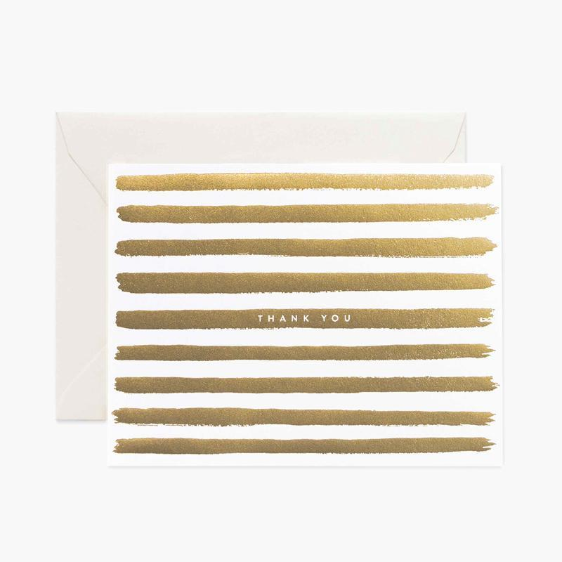 Rifle Paper - Boxed set : Gold Stripe  Thank You 套裝感謝卡 - 同人辦館 Our HK Mall