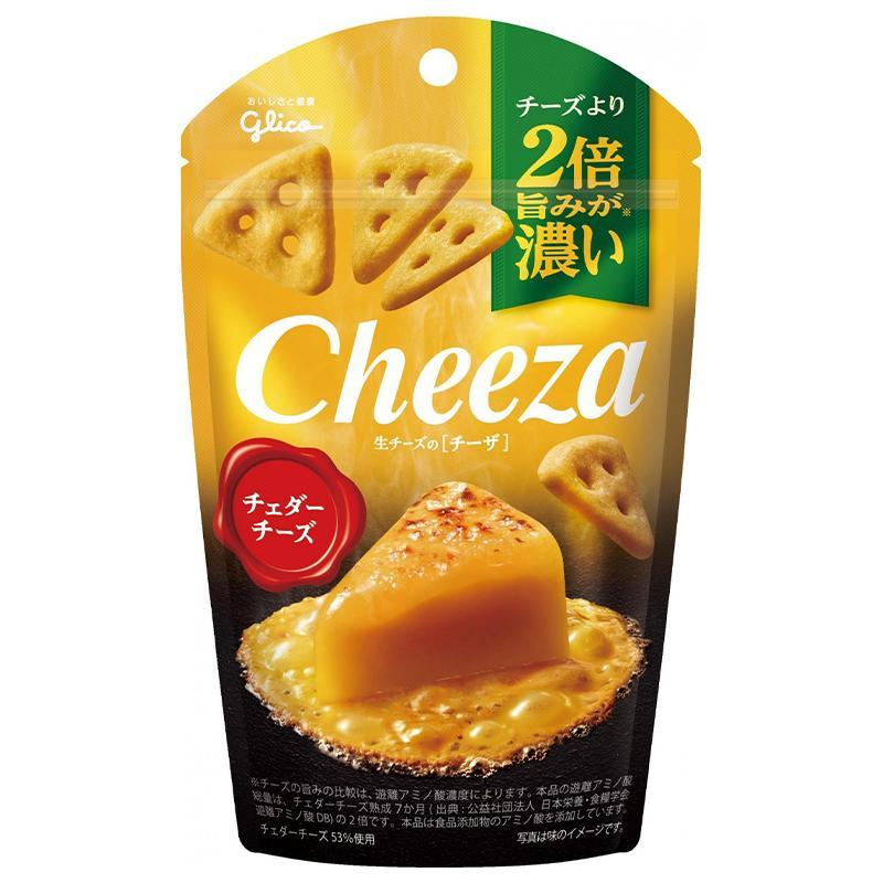 Glico Cheeza  - 車打芝士(Cheddar Cheese)脆片 40g - 同人辦館 Our HK Mall
