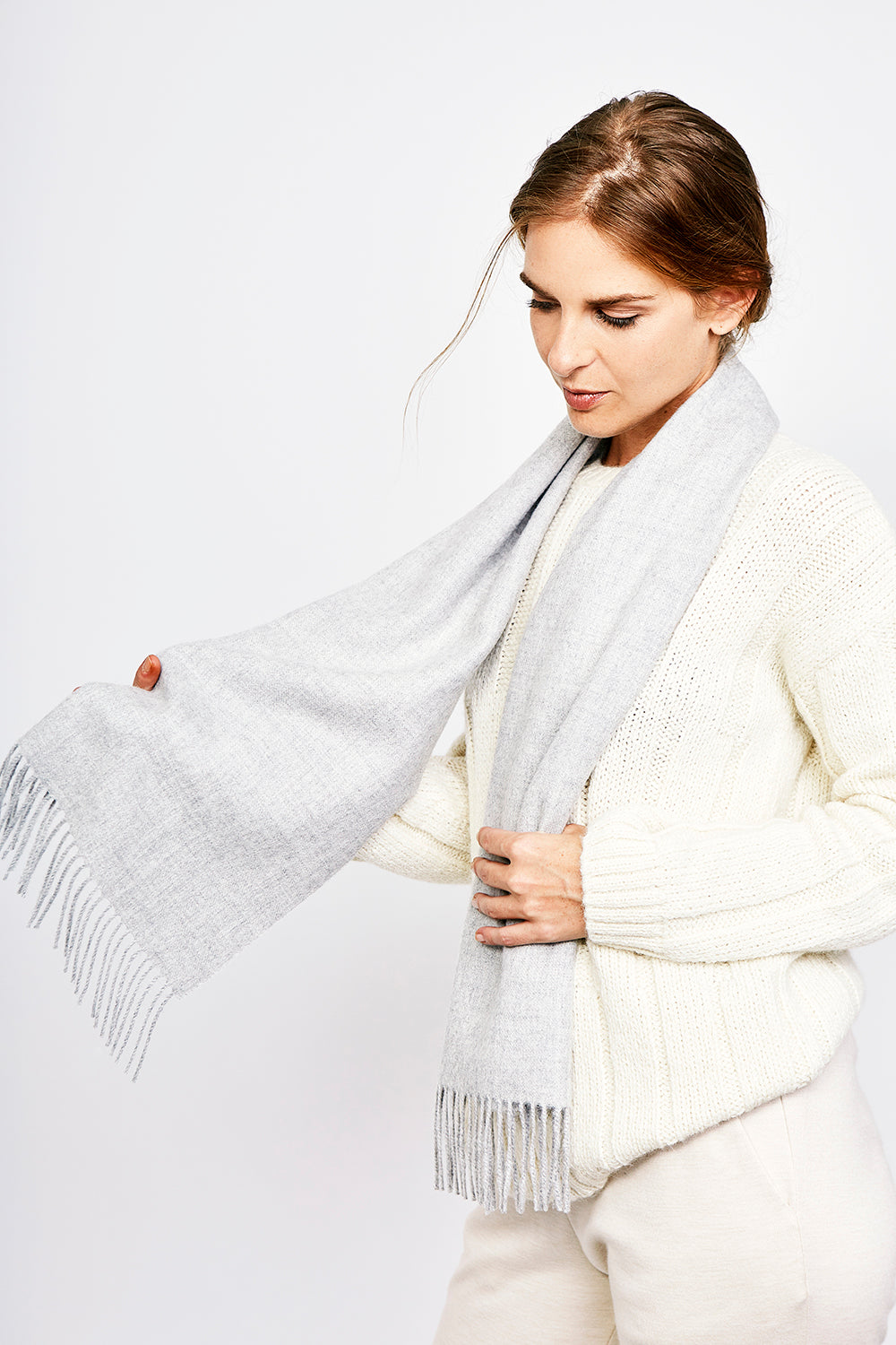 Fringed Brushed Scarf