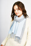 Double Face Scarf with Fringe