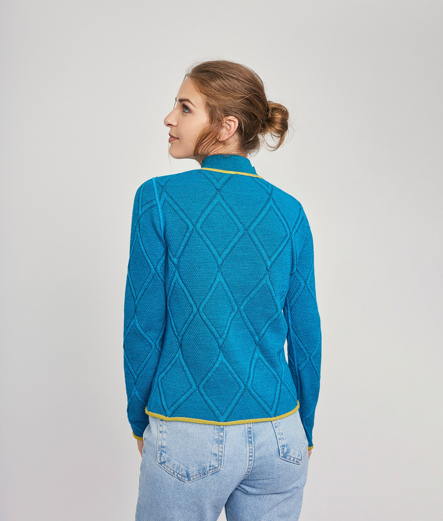 Diamond Knit Reversible Sweater